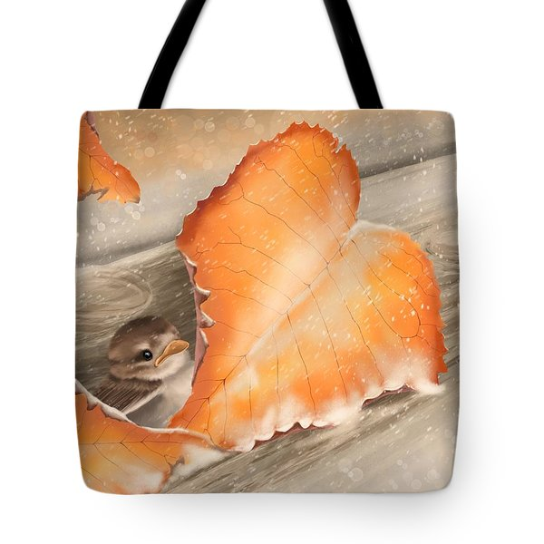 Tote Bag featuring the painting A Safe Place by Veronica Minozzi