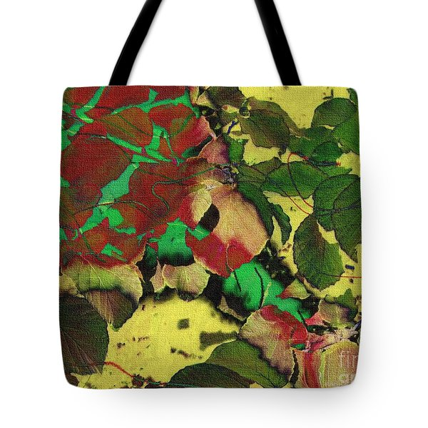 A Scattering Of Leaves Tote Bag