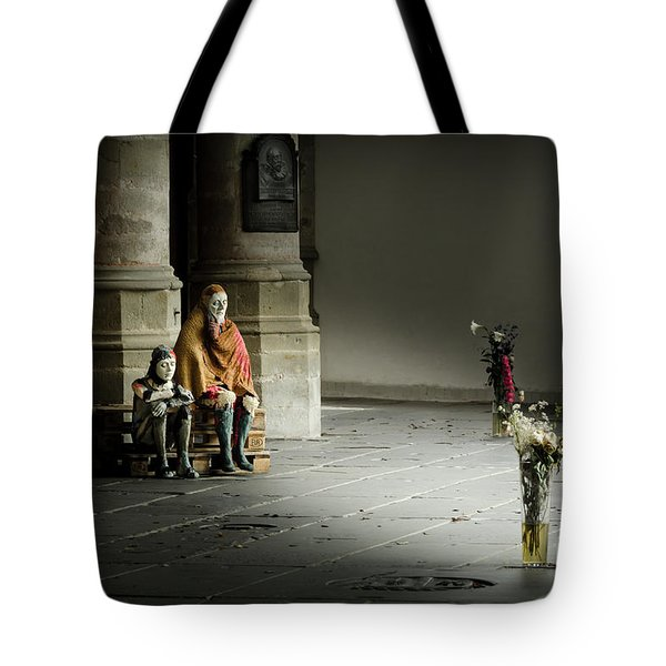 Tote Bag featuring the photograph A Scene In Oude Kerk Amsterdam by RicardMN Photography