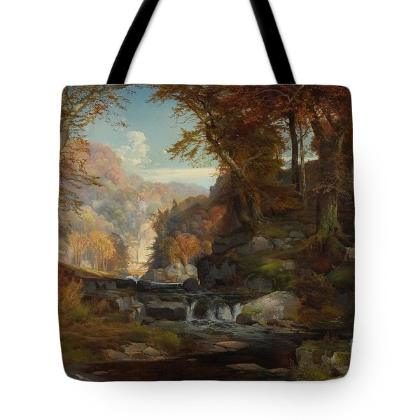 A Scene On The Tohickon Creek Tote Bag