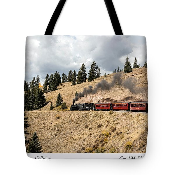 A Scenic Railroad Steam Train, Near Antonito In Conejos County In Colorado Tote Bag