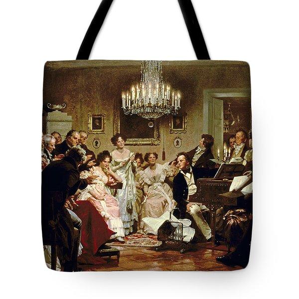 A Schubert Evening In A Vienna Salon Tote Bag