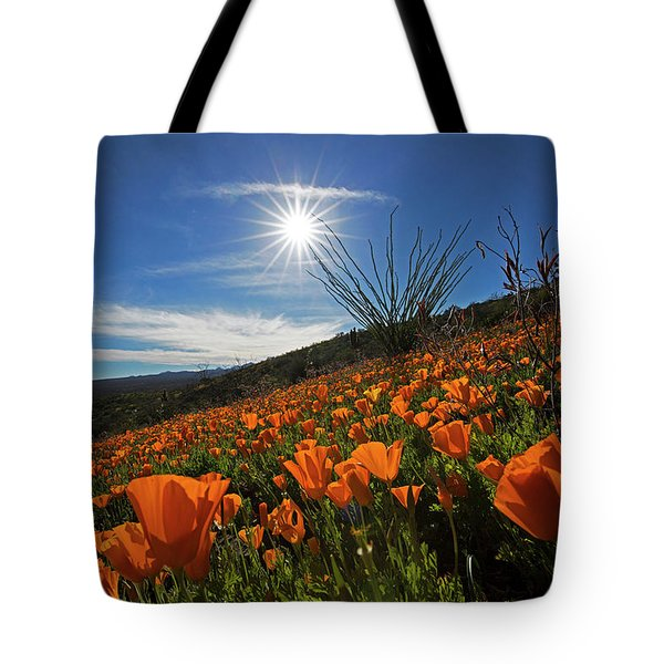 A Sea Of Poppies Tote Bag