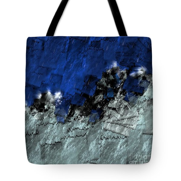Tote Bag featuring the digital art A Sea Storm In My Heart by Silvia Ganora