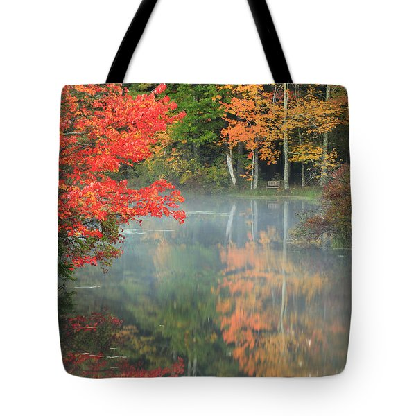 A Seat To Watch Autumn Tote Bag