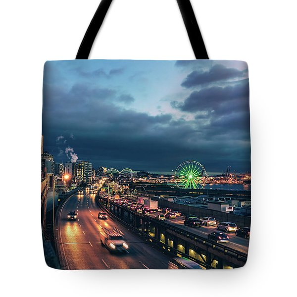 A Seattle Evening Tote Bag