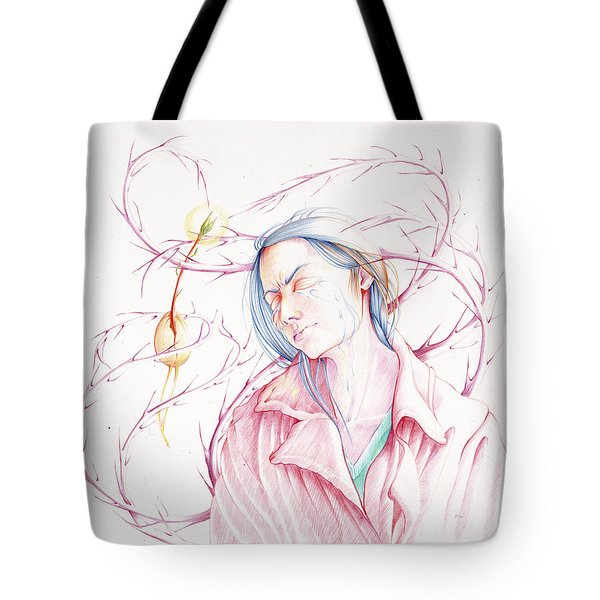 Tote Bag featuring the drawing A Sower's Nightmare by William Hart McNichols