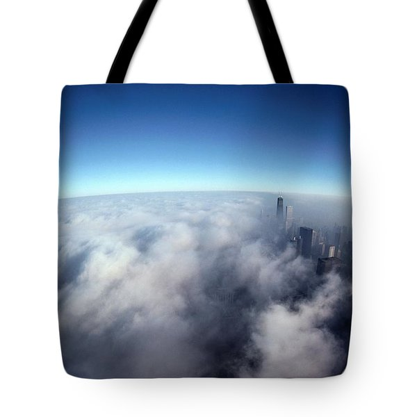 A Shadow Of The Sears Tower Slants Tote Bag