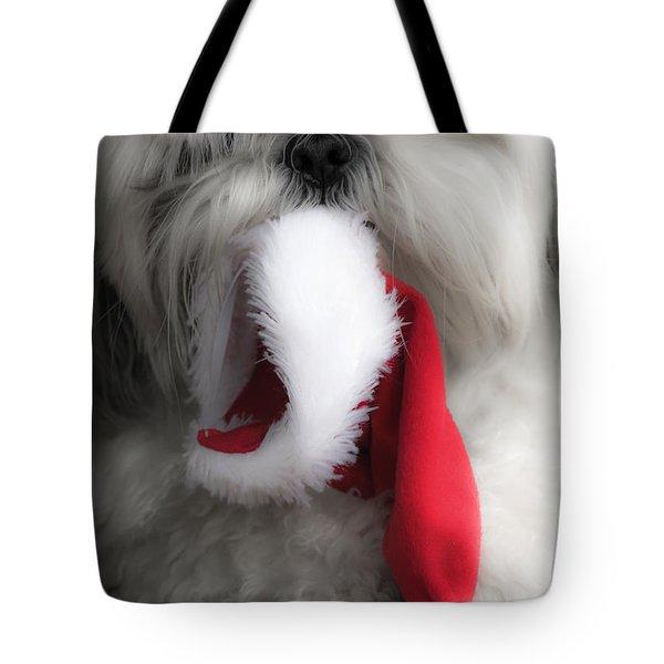 A Shih Tzu Christmas Tote Bag