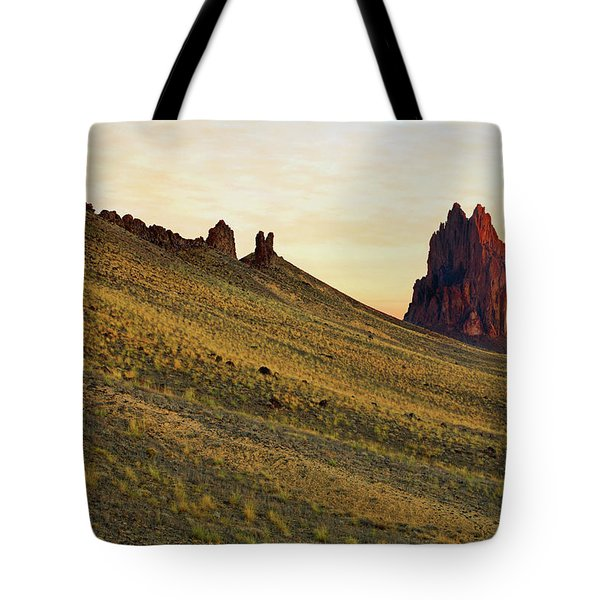 A Shiprock Sunrise - New Mexico - Landscape Tote Bag by Jason Politte