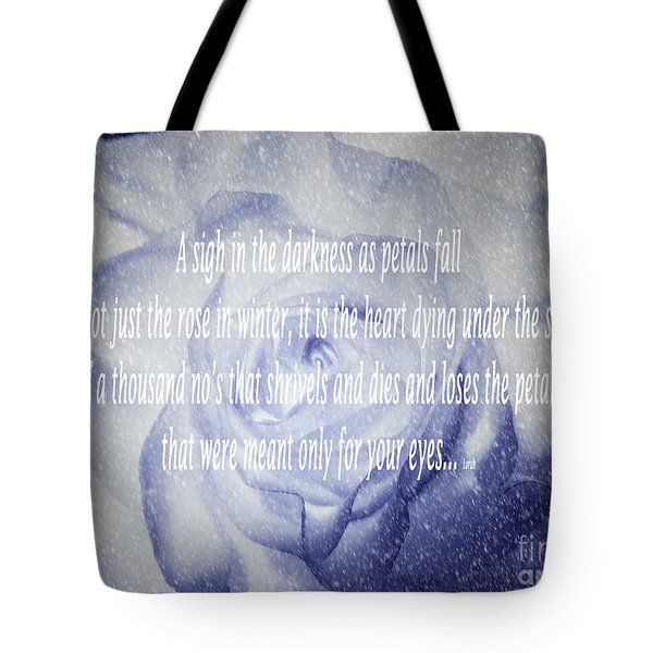 A Sigh In The Darkness Tote Bag