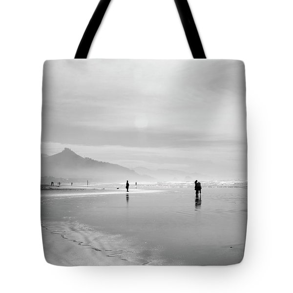A Silver Day On The Beach Tote Bag by Dan Dooley