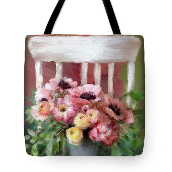 A Simple Bouquet Tote Bag