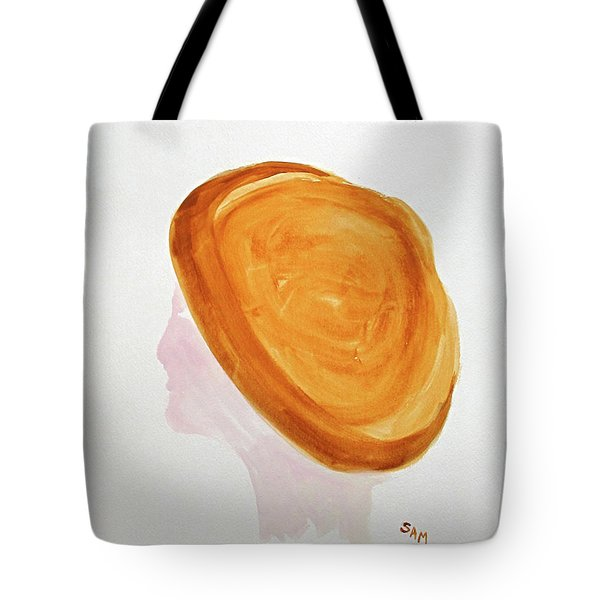 Tote Bag featuring the painting A Simple Hat by Sandy McIntire