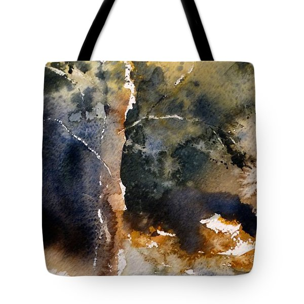 Tote Bag featuring the painting A Simple Tree by Sandra Strohschein