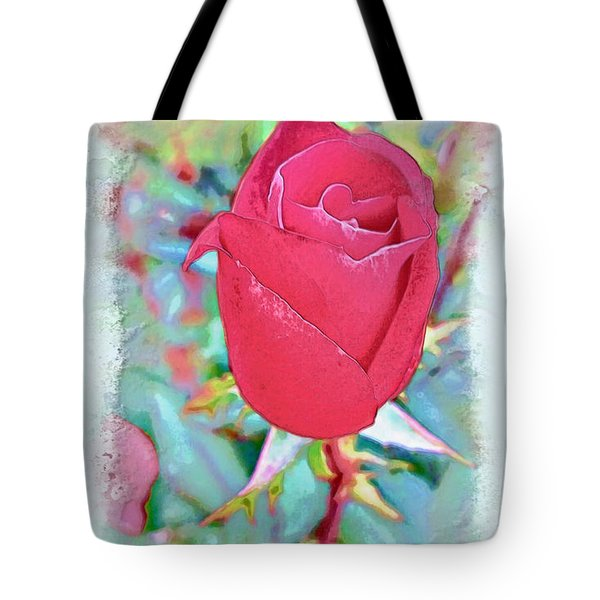 Tote Bag featuring the photograph A Single Rose In October by Joan  Minchak