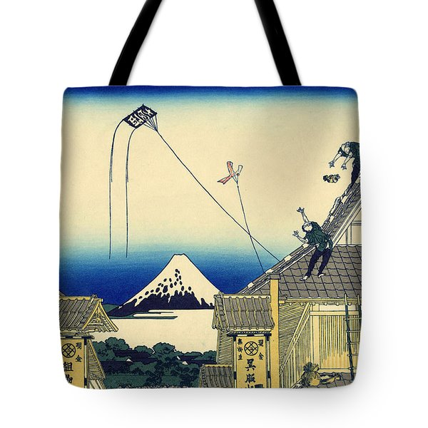 A Sketch Of The Mitsui Shop In Suruga Street In Edo Tote Bag