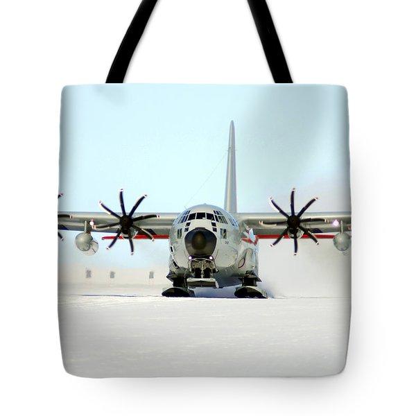A Ski-equipped Lc-130 Hercules Tote Bag by Stocktrek Images