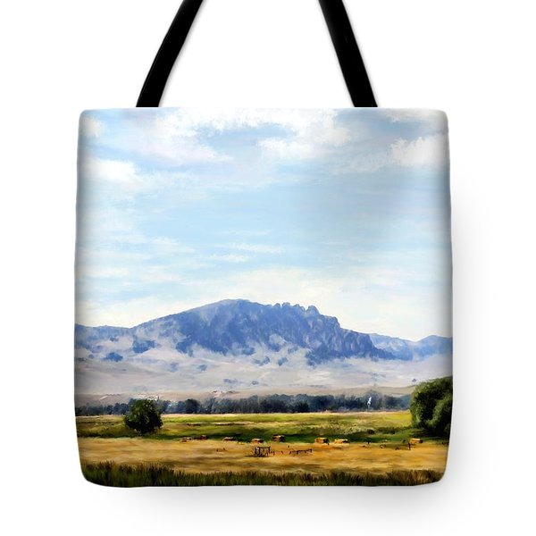 Tote Bag featuring the painting A Sleeping Giant by Susan Kinney