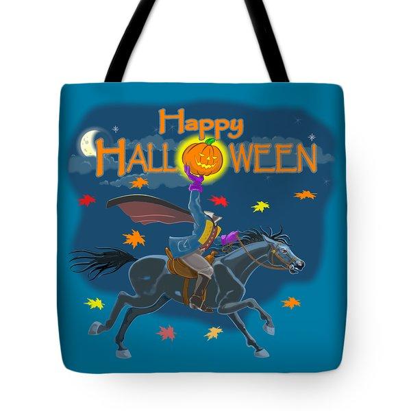 A Sleepy Hollow Halloween Tote Bag