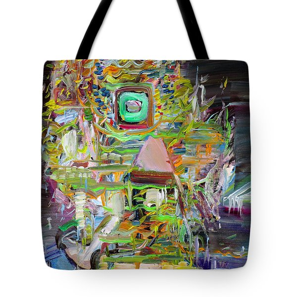 Tote Bag featuring the painting A Small Portion Of Herself by Fabrizio Cassetta
