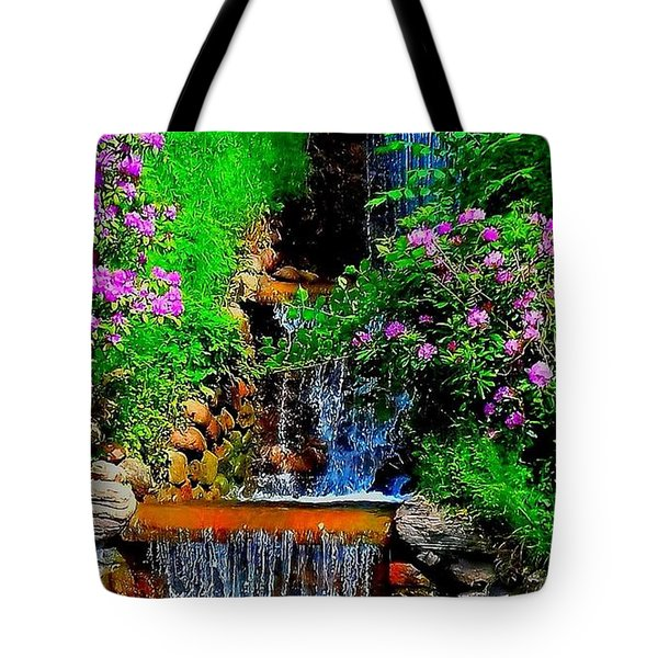 A Small Waterfall In Hbg Sweden Tote Bag