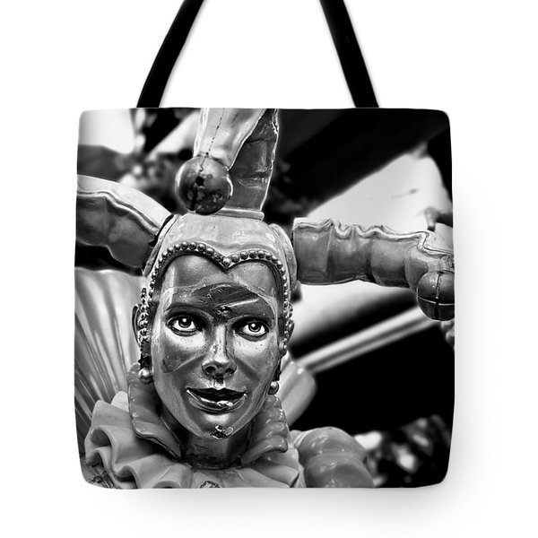 A Smile Behind The Scars B-w Tote Bag by Christopher Holmes