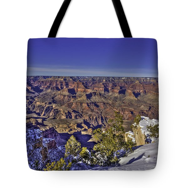 A Snowy Grand Canyon Tote Bag