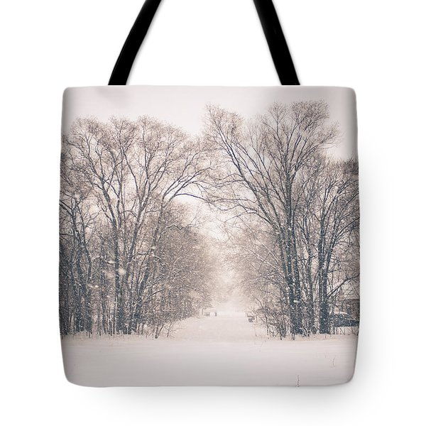 A Snowy Monday Tote Bag
