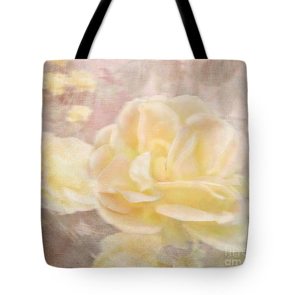 A Softer Rose Tote Bag by Victoria Harrington