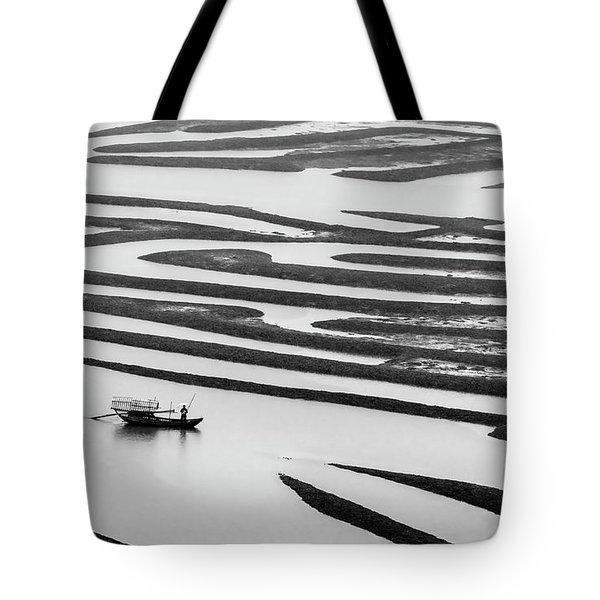A Solitary Boatman. Tote Bag