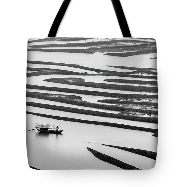 A Solitary Boatman. Tote Bag