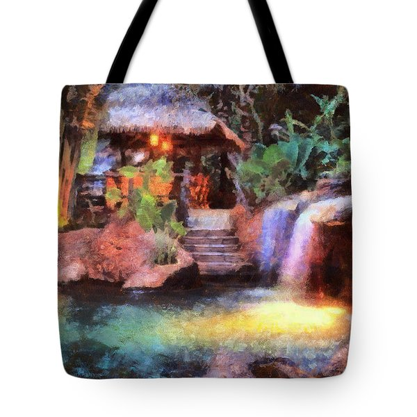 Tote Bag featuring the photograph A Spa For All Seasons by Mario Carini