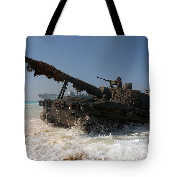 A Spanish Army M109a5 155mm Tote Bag by Stocktrek Images