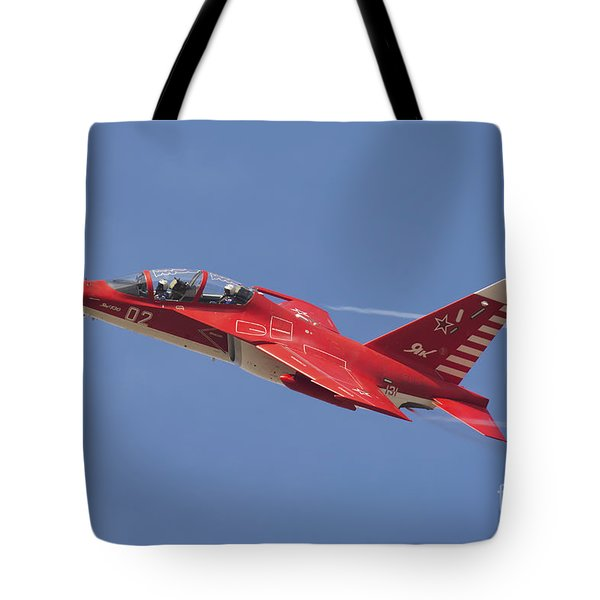 A Special Painted Yak-130 Performing Tote Bag by Daniele Faccioli