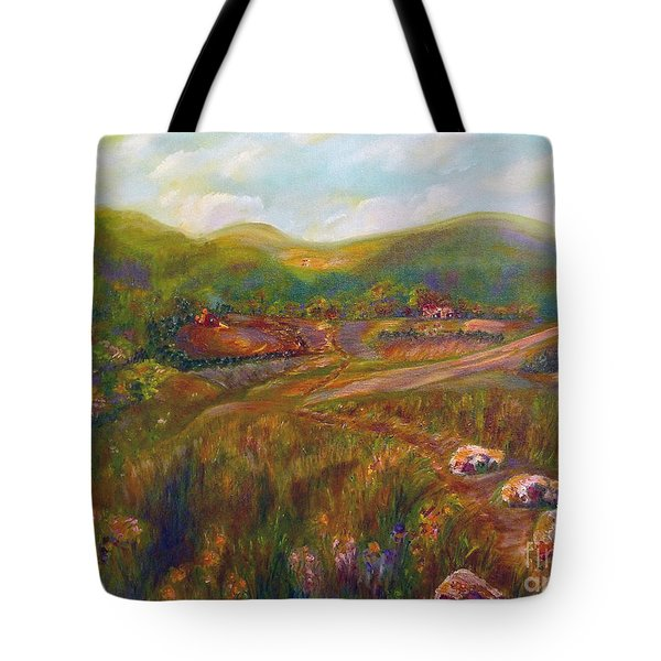 Tote Bag featuring the painting A Special Place by Claire Bull