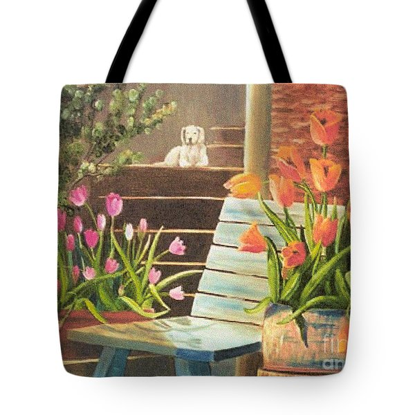 Tote Bag featuring the painting A Special Place by Renate Nadi Wesley