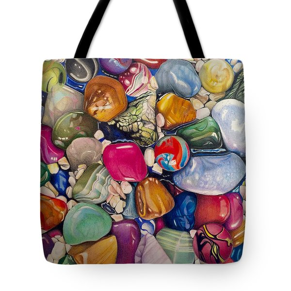 A Splash Of Color And Hardness Tote Bag