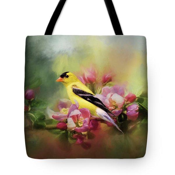 A Splash Of Joy Bird Art Tote Bag
