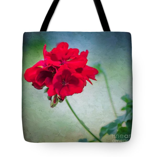 Tote Bag featuring the photograph A Splash Of Red by Betty LaRue