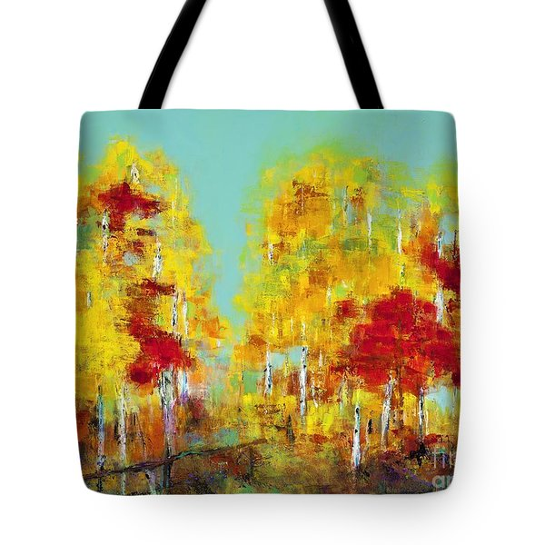 A Splash Of Red Tote Bag by Frances Marino