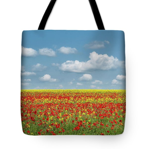 Tote Bag featuring the photograph A Splatter Of Red by Tim Gainey