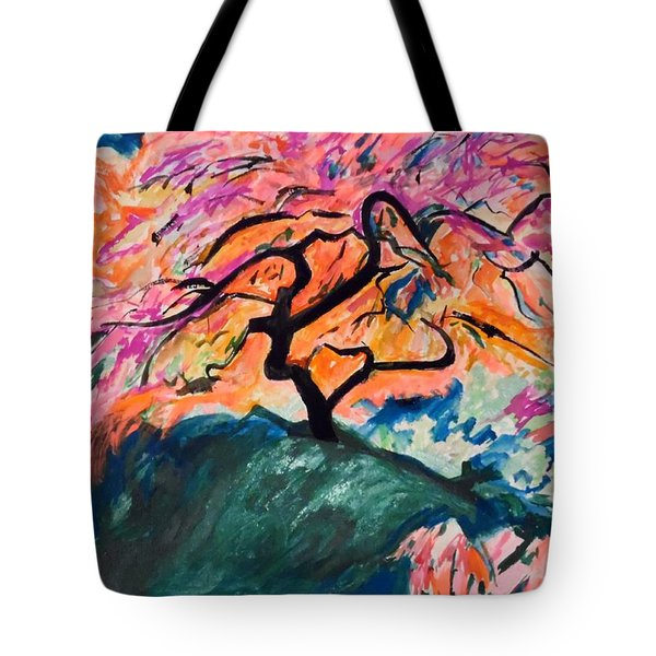 A Splendid Japanese Maple Tree Tote Bag by Esther Newman-Cohen