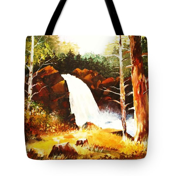 A Spout In The Forest Ll Tote Bag by Al Brown