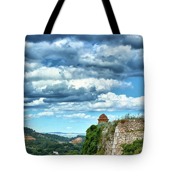 Tote Bag featuring the photograph A Spring Day At The Roman Walls Of Tarragona by Eduardo Jose Accorinti