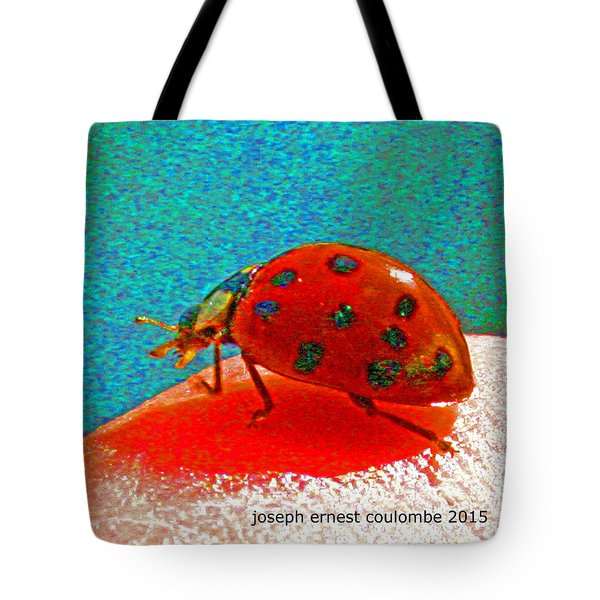 A Spring Lady Bug Tote Bag