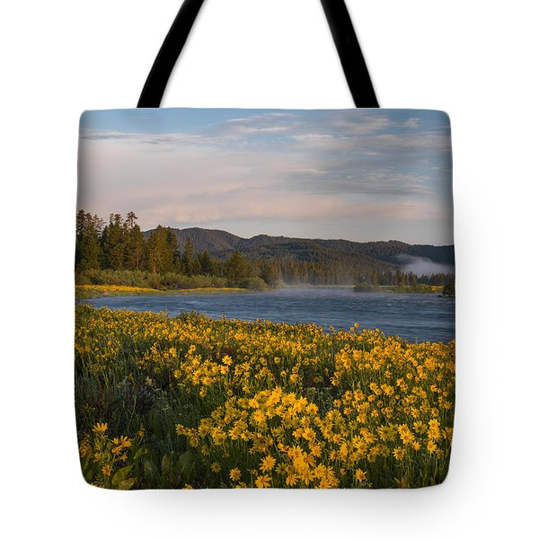 A Spring Morning Tote Bag by Leland D Howard