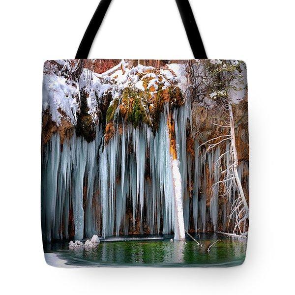 A Spring That Knows No Summer. - Hanging Lake Print Tote Bag