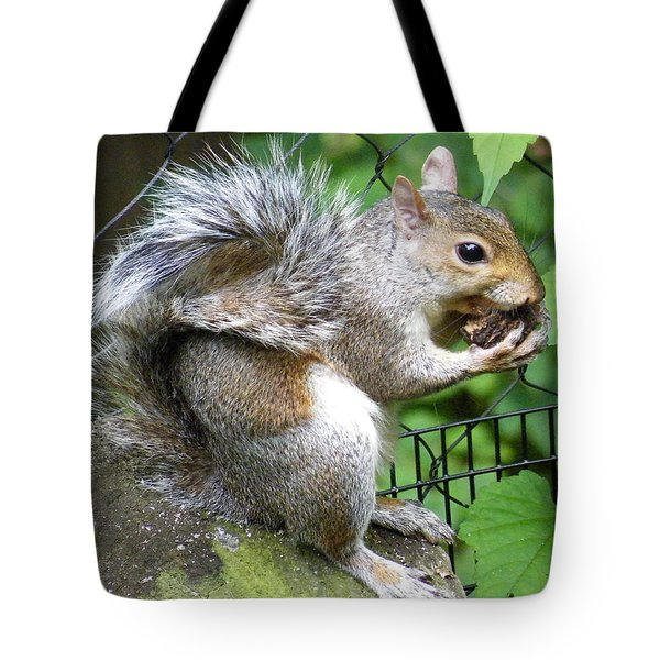 A Squirrelly Portrait Tote Bag