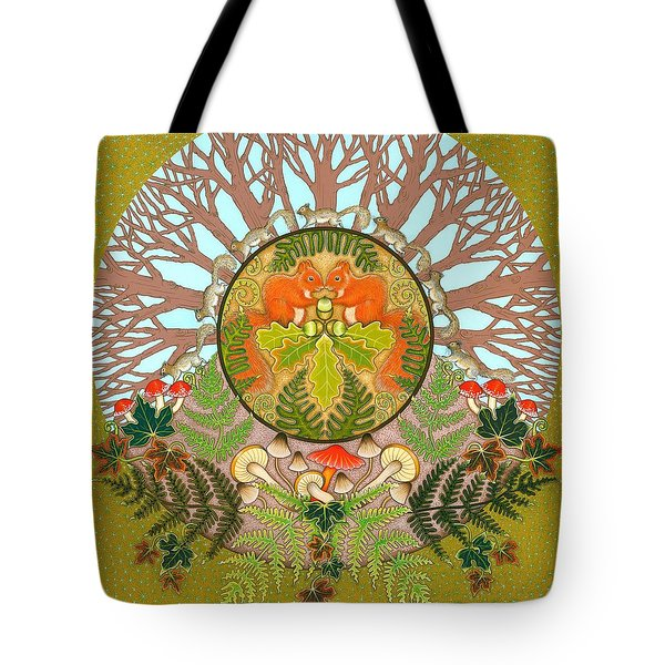A Squirrel's Tale Tote Bag by Isobel Brook Haslam